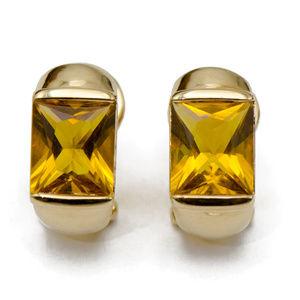 18k Yellow Gold Citrine Earrings